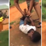 VIDEO: Neighbors Rescue Little Girl Tied By Mother For Not Sweeping In Awka, Anambra State