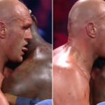 Bizarre Moment Tyson Fury Licked Blood Off Deontay Wilder's Neck En Route To Stoppage Victory