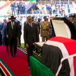 Paul Kagame Attends Funeral Service Of Former Kenyan President Moi (Video & Photos)