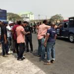 PHOTOS: Okada riders protest ban in Ikeja, Lagos
