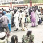 Beggars lay siege to Sanwo-Olu's office, lament harassment