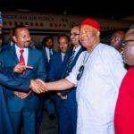 Buhari Arrives Addis Ababa Ahead Of AU Summit (Photos)