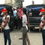 Police Van Allegedly Being Used As Commercial Vehicle In Lagos (photos)