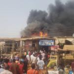 PHOTOS: Fire Outbreak Destroys Shops At Jabi motor park, Abuja
