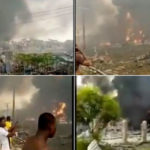 PHOTOS & VIDEO: Explosion in Abule Ado, Amuwo Odofin Local Government Area of Lagos State