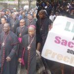 Catholic Bishops, Parishioners Protest Killing Of Nigerians In Abuja (PHOTOS & VIDEO))