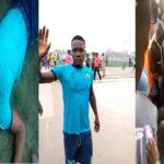 Breaking: Nigerian Footballer Slumps, Dies During Nigeria League Match (PHOTOS)