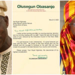 Obasanjo Writes Letter To Sanusi: Your Dethronement As Emir Is Good And Bad