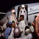 VIDEO & PHOTOS: Emir Sanusi Lamido Arrives In Lagos In Luxurious Private Jet Paid For By Nasir El-Rufai