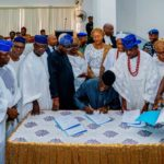 SEE PHOTOS OF AMOTEKUN BILL SIGNED INTO LAW TODAY IN EKITI STATE
