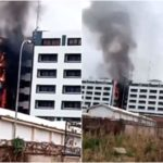 PHOTOS & VIDEO: Fire Guts Office Of The Accountant General In Abuja