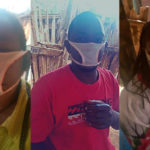 COVID19: Photos Of Residents Wearing Panties Fashioned Into Facemasks After They Were Duped By Unscrupulous Traders