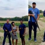 PHOTOS: Ben Murray-Bruce and his kids pose with guns