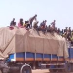COVID-19: The Moment Niger State Govt Turned Trailer Filled With Over 50 People Back To Lagos (Photos & Video)