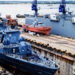 Flagship, NNS Aradu Undergoes Repairs At The Naval Dockyard Lagos (PHOTOS)