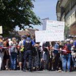 Hundreds protest against lockdown in Switzerland
