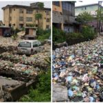 PHOTOS: Garbage Takes Over Surulere After Heavy Rain