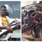 PHOTOS: Amotekun arrest Northern youths coming to Osun with weapons & charms
