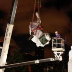 Christopher Columbus statues removed in Chicago after protesters clash with police
