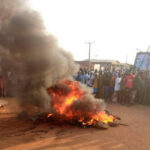 3 Armed Robbers Who Tried To Rob A Bank In Oyo State, Caught And Set Ablaze