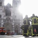 French investigators questioning man in connection with Nantes cathedral fire