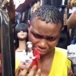 Nursing Mother Caught Stealing Human Hair Worth N200,000 (Video)