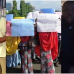 PHOTOS: Protesters Storm US Embassy, Demand Arrest Of Atiku And Dino Melaye Over Alleged Involvement With Hushpuppi