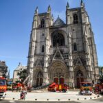 Nantes cathedral blaze: Volunteer charged after admitting setting up fire