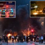 Hundreds of islamophobic rioters clash with police in Malmö (photos)