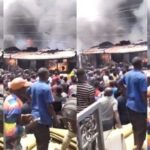 Fire guts 30 shops, seven houses in Lagos market (PHOTOS)