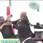 President And His Vice Exchange Blows, Fight Dirty During Live Press Conference (Video)