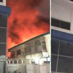 Massive Fire Razes Teju Foam Company In Lagos (Video & Photos)