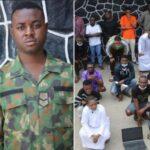 EFCC Arrests Soldier, Suspected Yahoo Boys And Girls For Alleged Internet Fraud In Lekki (Photos)