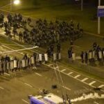Fresh clashes in Belarus after Lukashenko challenger Tikhanouskaya flees country