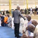 PHOTOS: Apostle Suleman Prays For APC Governorship Candidate, Ize-Iyamu To Win Election