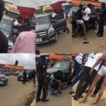 Police Strip Young Men In Public After Calling Them 'Yahoo Boys' For Driving Benz In Ogun (photos)