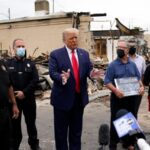 Trump denies systemic racism, pushes 'law and order' in Kenosha
