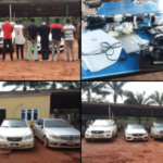 PHOTOS: 8 Cars Recovered As EFCC Arrests 14 Suspected Fraudsters In Anambra