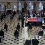 Justice Ruth Bader Ginsburg becomes first woman to lie in state at US Capitol