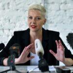 Belarus opposition figure Kolesnikova 'tore up passport at border' to avoid forced exile in Ukraine