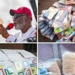 Gov. Rotimi Akeredolu Shares Ludo and Slippers To Citizens Ahead Of Ondo Elections (photos)