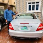Nigerian Pastor Shows Off His N7 Million Mercedes SLK Convertible (Photos)