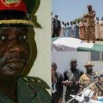 Army commander killed in Boko Haram ambush buried; Borno gov gifts his widow N20m (photos)