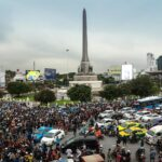 Huge crowds in Bangkok challenge Thai protest ban for fourth day