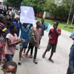 """We Are Not Witches""- Street Children Protest At Governor's Office Against Witchcraft Allegations In Calabar (photos)"