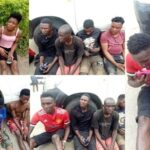 #EndSARS: Police in Edo state arrest 9 suspected hoodlums who burgled a rice warehouse in Benin (photos)