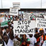 Thousands rally in Ivory Coast to protest President Ouattara's bid for third term