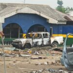 PHOTOS: Police station allegedly attacked in Oyigbo, Rivers State
