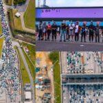 BREAKING: Heavy gridlock as EndSARS protesters block Lekki toll gate (photos + videos)