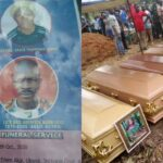 Five family members who died in fatal motor accident on the way to their neighbour's funeral laid to rest in Akwa Ibom (photos)